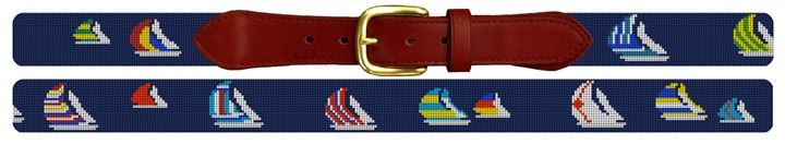 Preppy Spinnaker Needlepoint Belt Canvas | NeedlePaint