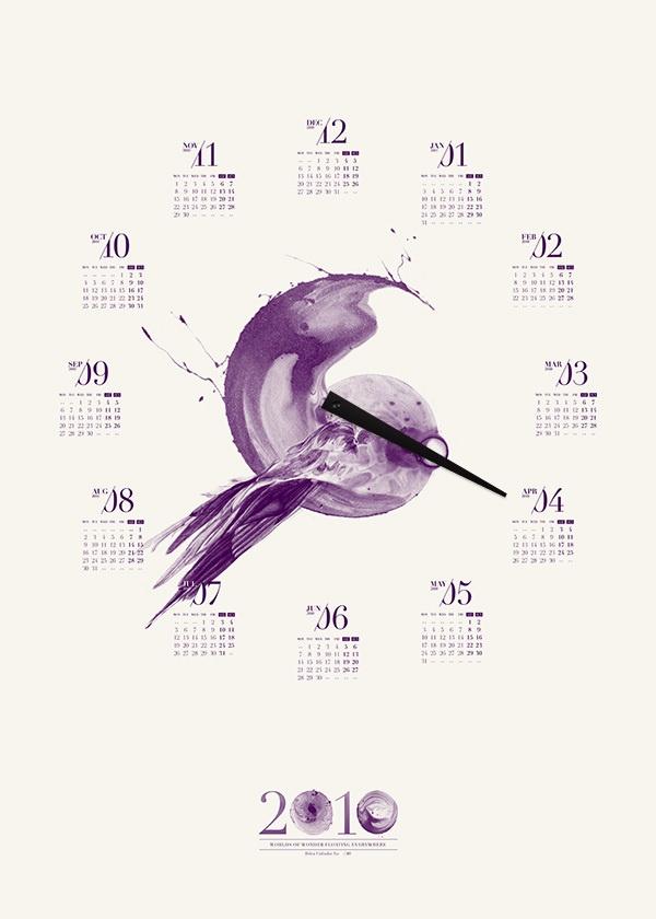2010 Toben Poster Calendar by Toben , via Behance