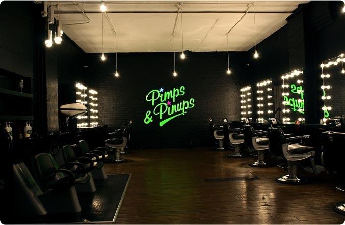 Pimps & pinups Hais salon London