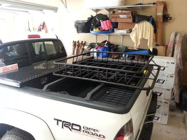 """UWS Low profile toolbox, ArmorTech Offroad 1.5"""" crossbars with Curt cargo basket, and Clutch SD mounts"""