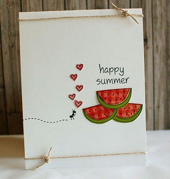 happy summer card.