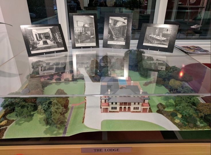 Scale model of The Lodge at the Department of Prime Minister and Cabinet in Canberra.