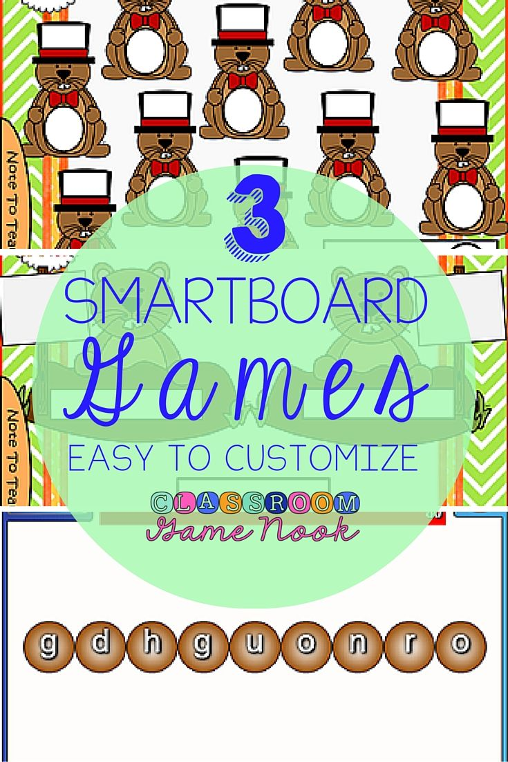 17 best smartboard images on pinterest interactive bulletin 3 smartboard grounhog day themed games that you can customize for any subject or pooptronica Images