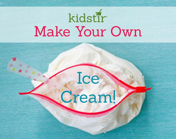 If you don't have an ice cream maker, try mixing up your own frozen treat in a bag! All you need is a little cream, sugar, vanilla, and ice. Shake away!