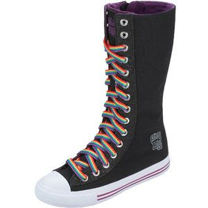 shake it up rainbow knee high sneakers shoes