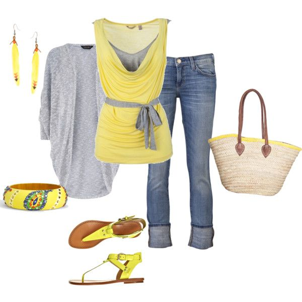 me likey!: Shoes, Dreams Closet, Design Clothing, Colors, Spring Summ, Dresses, Grey, Spring Outfits, Gray Yellow