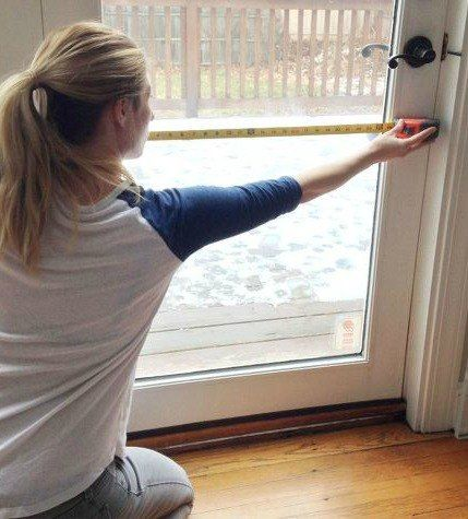 A homeowner wants privacy at her back door, but instead of hanging curtains she does this!
