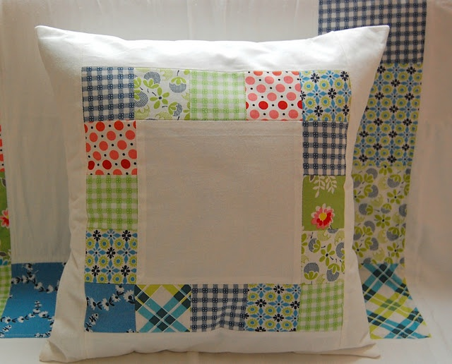 quilt pillow: oh so pretty, love the fabrics                                                                                                                                                     More