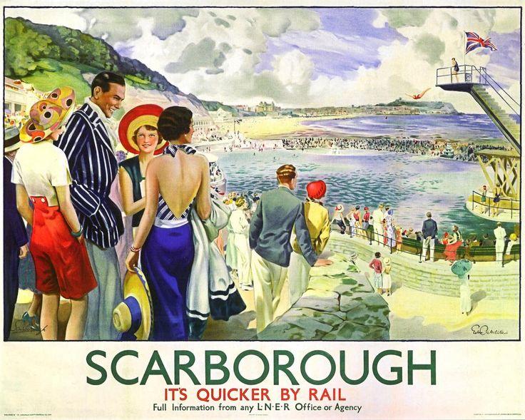 Vintage Blog: Scarborough Railway Poster 1930