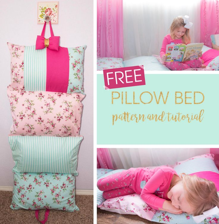 Free Sewing Pattern: Pillow Bed Pattern   PILLOWS