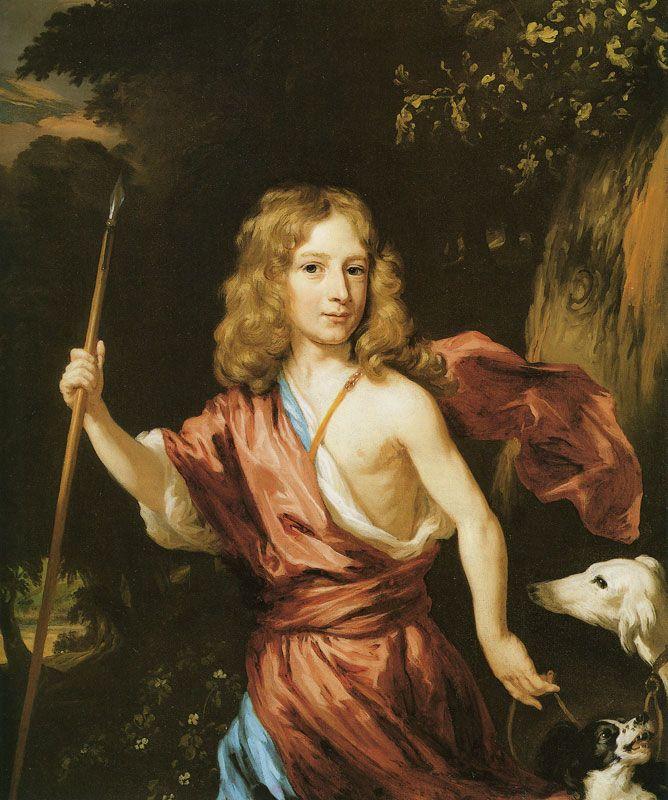 Nicolaes Maes - Portret van jongen als Adonis