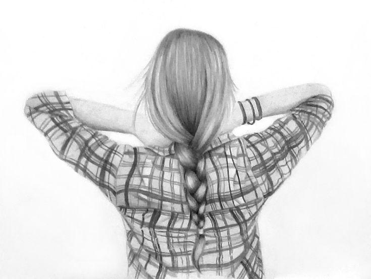 hair sketch drawing drawings braided deviantart braid pencil sketches pretty draw braids messy shirt creative favim realistic bun behind illustration