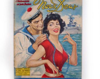 The perfect gift for a romantic event! This image would be lovely as a framed gift. The magazine is complete and is full of romantic comic strip