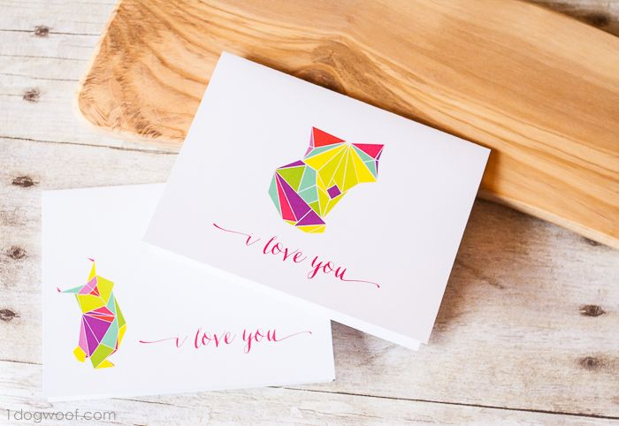 Here's two origami love cards for free download, but I'd love to hear what else you'd like to see these designs on!