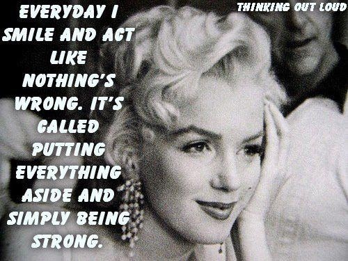 Marilyn Monroe quote. She was known to have endometriosis.