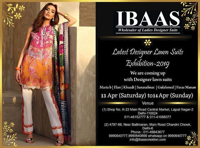 917938dd39 Branded 100% Original Designer Suits Sanasafinaz, Élan, Maria b, Gulahmed,  More than 50 Brands Under one Roof. #Lawn #Suits #Summer2019 #Exhibition  @IBAAS ...