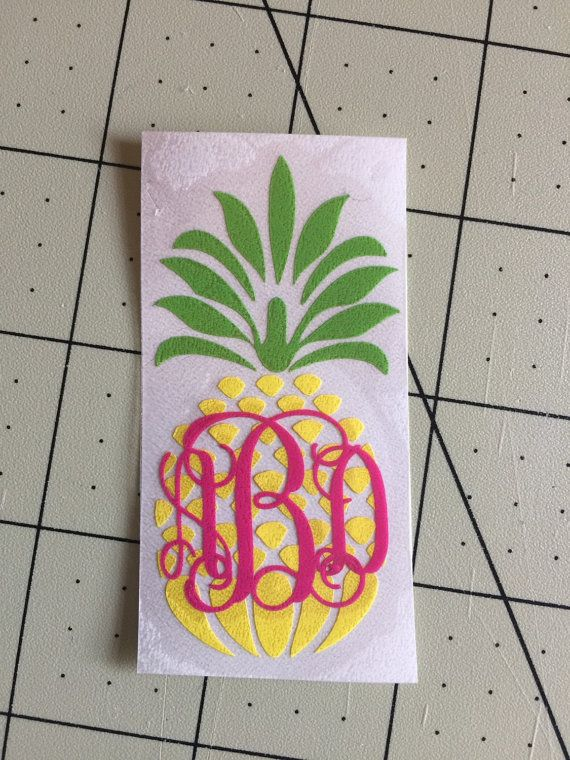 $8.99 Three color Monogram pineapple Decal or by aSweetSouthernAccent