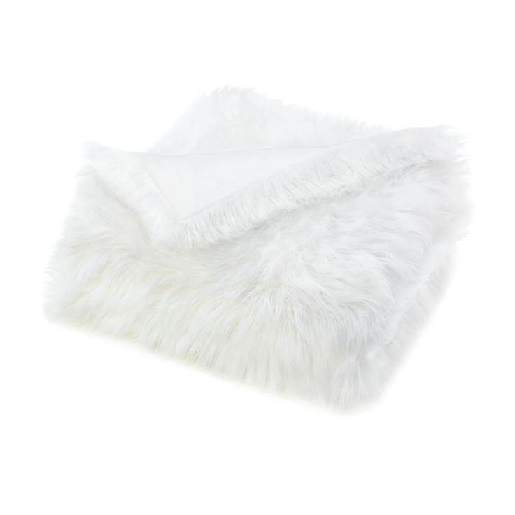 White Faux Fur Blanket