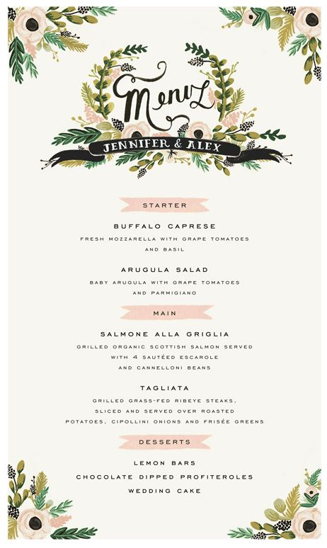 193 Best Wedding Menu Ideas Images On Pinterest | Wedding Menu