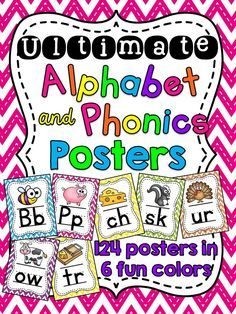 124 vibrant alphabet, blends, and phonics sounds posters for the classroom!! All 124 posters come in 6 fun colors of stitched chevron (pink, purple, blue, yellow, orange, and green) so you can mix and match how you want to!!