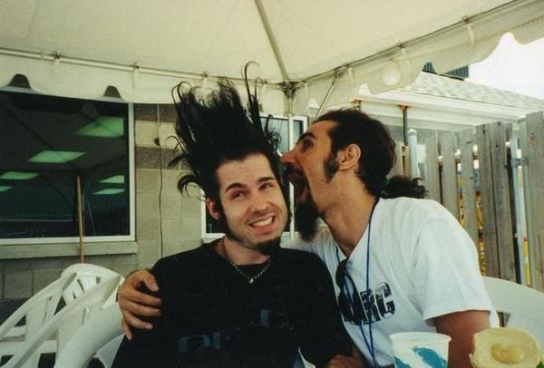 Wayne Static of Static-X RIP and Serg Tankian of System of a Down.