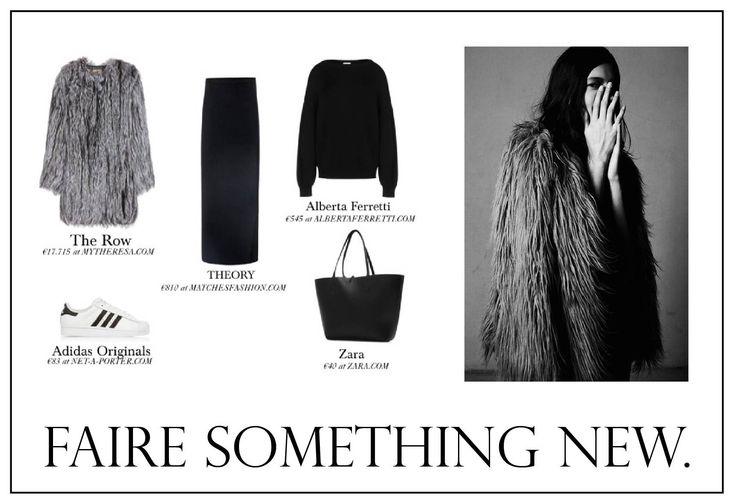 #fairesomethingnew #look #fashion #fashionista #fur #winter #simple #chic #sporty #trend #2015 #woman #skirt #sweater #knit