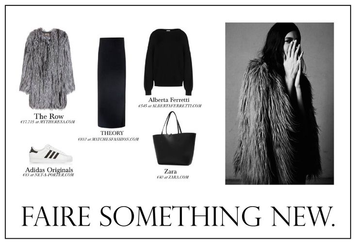 #fairesomethingnew #look #fashion #fashionista #fur #winter #simple #chic #sporty #trend #2015 #woman #skirt #sweater #knit