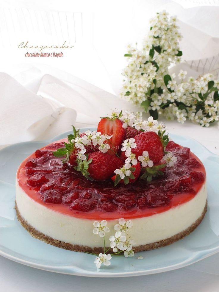Cheesecake al cioccolato bianco e fragole di Tiziana