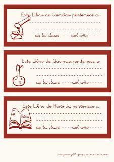 Etiquetas para libros para imprimir