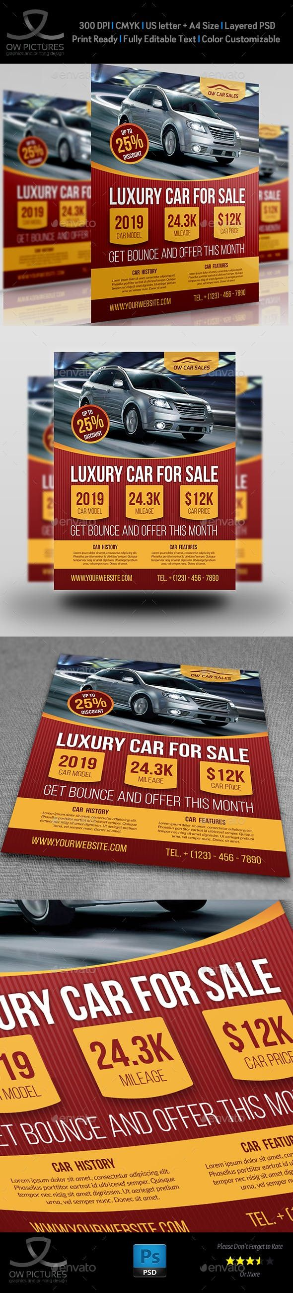 Car For Sale Flyer Template Vol 3 Photoshop Psd Modern Ai Flyer Sale Flyer Flyer Template Flyer Car for sale sign template