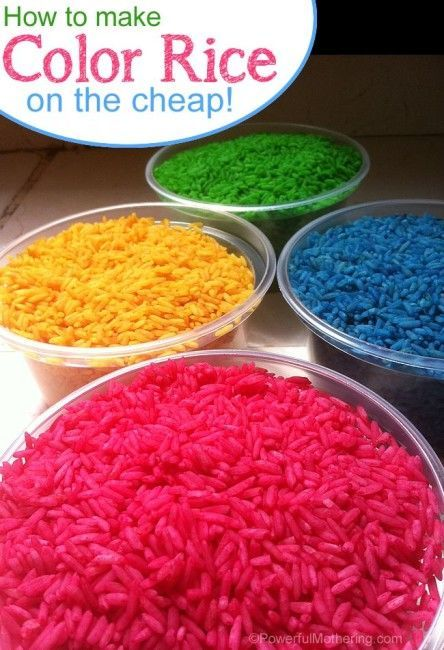 How to make color rice on the cheap - your toddler will love this sensory experience!