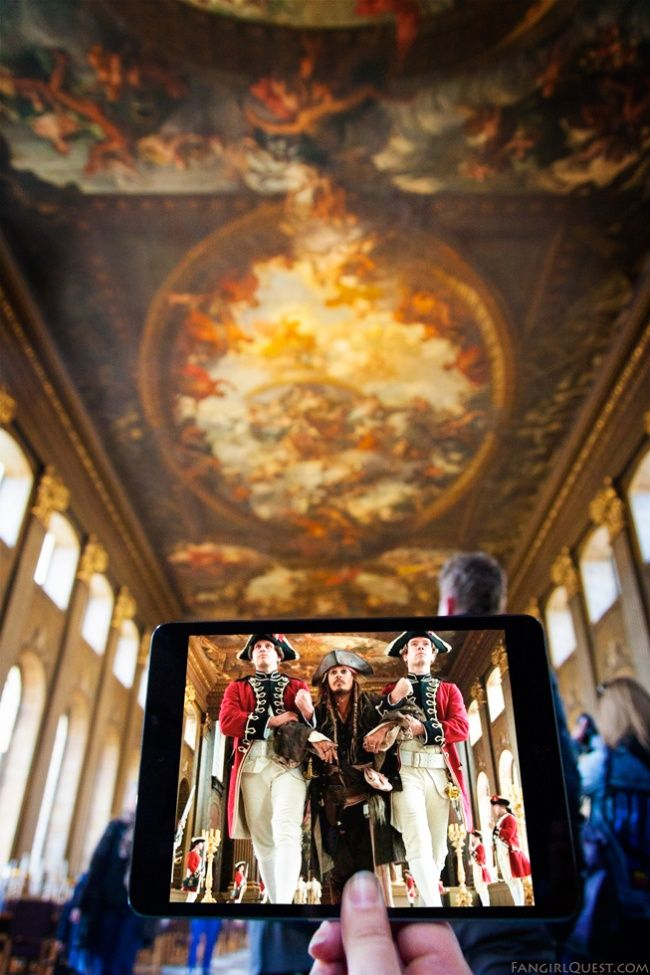 Lugares defilmación dealgunas películas famosas:«Piratas del Caribe» — El Antiguo Real Colegio Naval de Greenwich, Londres