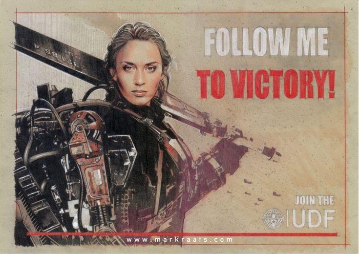 Mark Raats - Rita Vrataski - The Angel of Verdun -- THIS ART HAS...