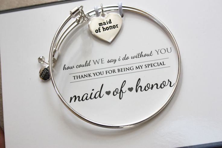 Maid of Honor - Meaningful Message Bracelet Set in Stainless Steel | Personalize your gift box
