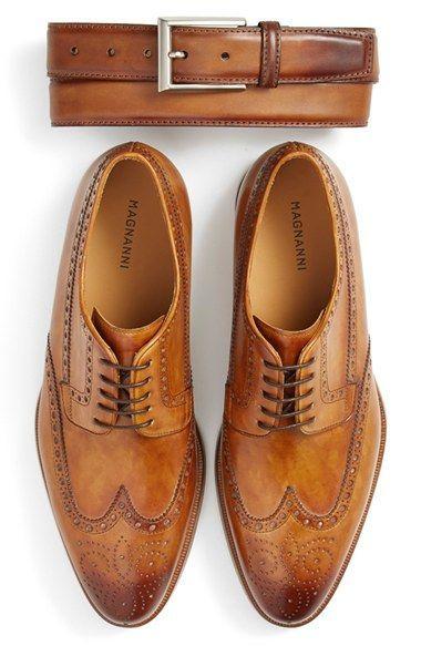 Men's Magnanni 'Roda' Wingtip #moda #fashion #cuero #leather #zapatos #shoes #marroquineria #bolsos #leathergoods #bags #estilo #style #lifestyle