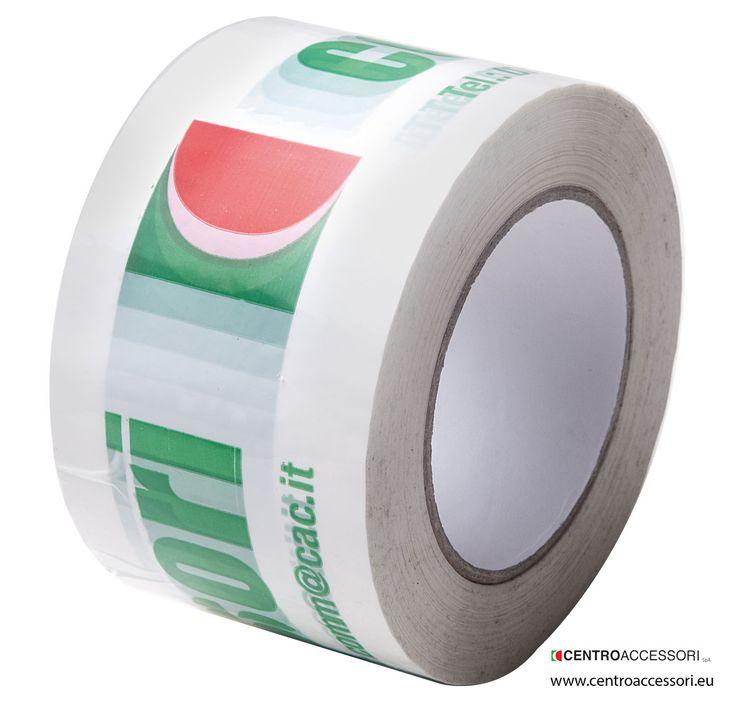 Nastro adesivo per imballaggio stampato. Printed adhesive tapes for packing. #CentroAccessori
