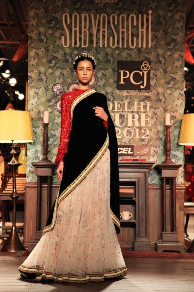 Sabyasachi Delhi Couture Week 2012 #sabyasachi #delhicoutureweek2012 #saree #embellished #embroidery