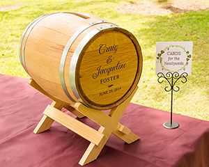 Personalized Wine Barrel Wedding Card Holder-love this mini barrel!