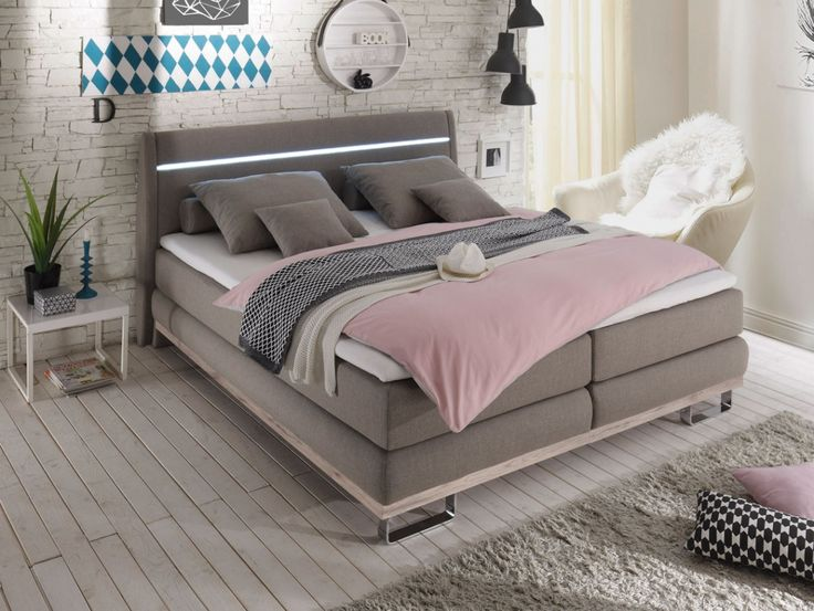 boxspringbett oslo 180x200 cm sandeiche schlamm schlafzimmer bett schlafzimmer in 2019. Black Bedroom Furniture Sets. Home Design Ideas