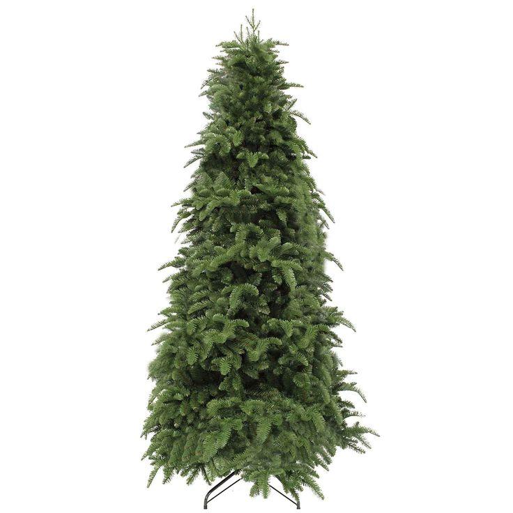 """Triumph tree - smalle kunstkerstboom deluxe abies nordmann maat in cm: 230 x 135 groen  De Abies Nordmann van Triumph Tree is de Rolls-Royce onder de kunstkerstbomen. De kerstboom is het topmodel van Triumph Tree en het allerbeste wat er op de huidige markt te vinden is. Hij is extra vol van binnen en heeft """"natural touch"""" takjes langs de buitenkant die met het oog nauwelijks van echt zijn te onderscheiden. Door het verspringen van de takken is hij mooi gelaagd. Hierdoor lijkt hij nog echter…"""