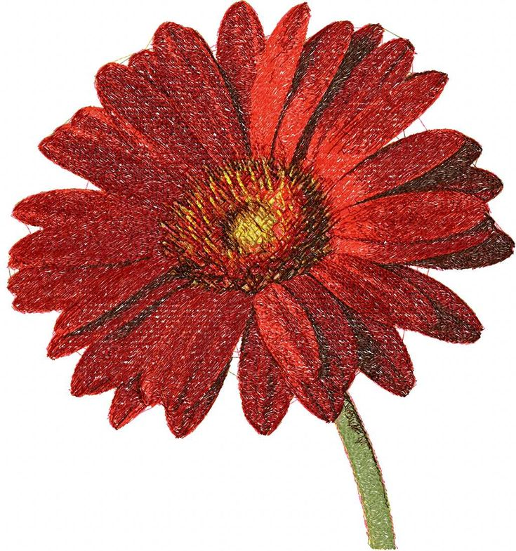 Red flower photo stitch free embroidery design 21 - Photo stitch embroidery designs - Machine embroidery community