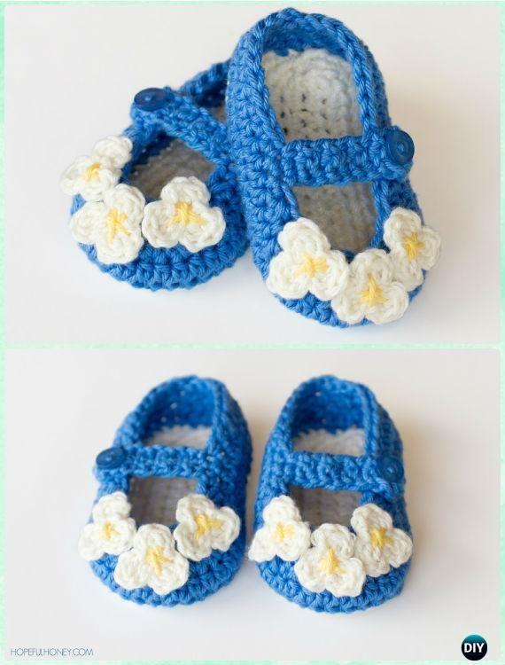 Crochet Baby Booties Slippers Free Pattern Knitting Patterns