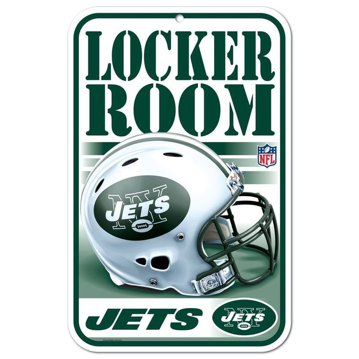 "New York Jets WinCraft 11"" x 17"" Plastic Sign https://www.fanprint.com/licenses/new-york-jets?ref=5750"