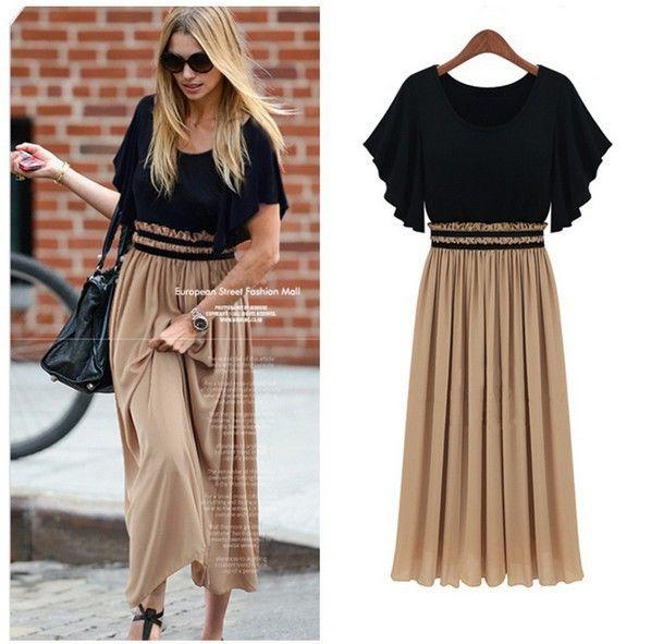 Women Fashion Chiffon Pleated Dress