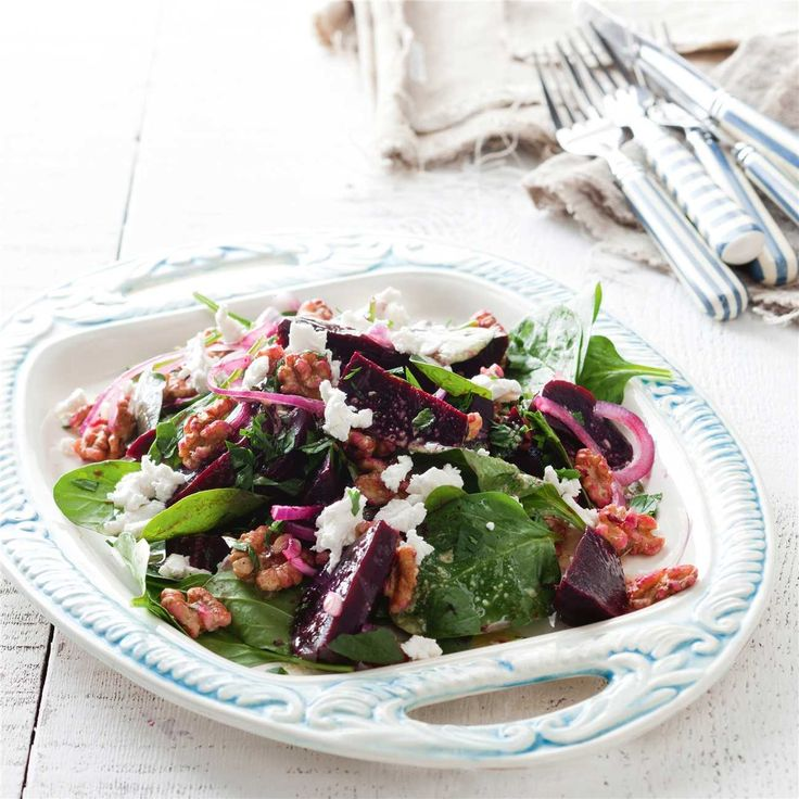 Beetroot, Goats Cheese & Walnut Salad