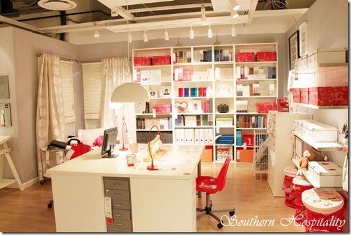 IKEA store layout of a craft room  WOW!!!