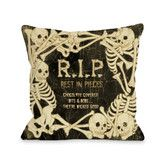 Found it at Wayfair - RIP Skeleton Border Polyester Throw Pillow