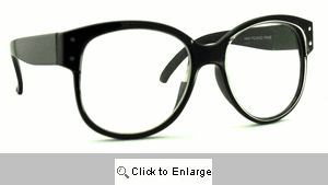 Bugs Big Clear Lens Glasses - 576 Black
