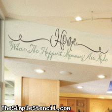 Home Memories Quote   Family Wall Lettering   The Simple Stencil