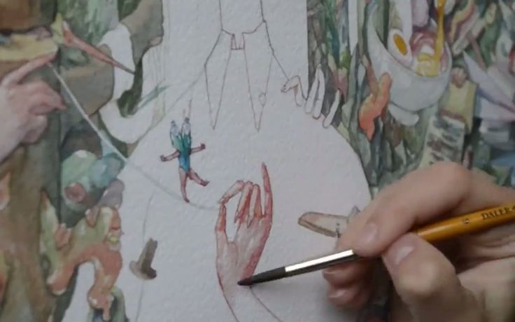 New video: Watercolor timelapse by The Art of Marija Tiurina  http://mindsparklemag.com/video/watercolor-timelapse/
